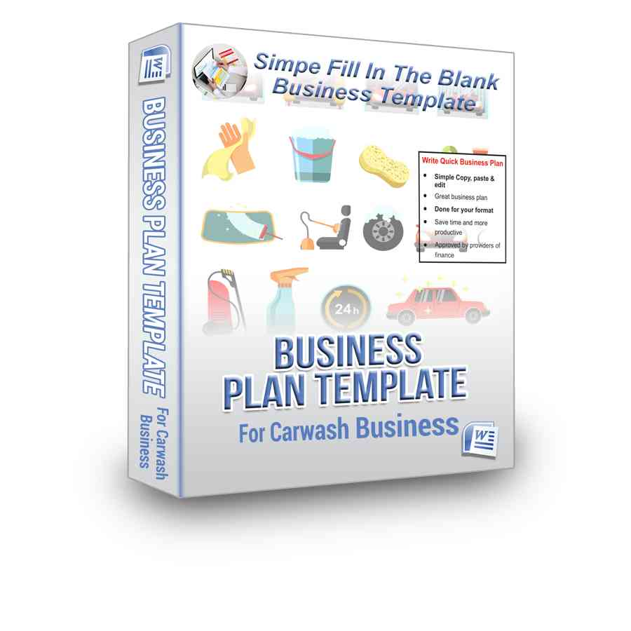 nyda business plan template - car wash business plan bpe
