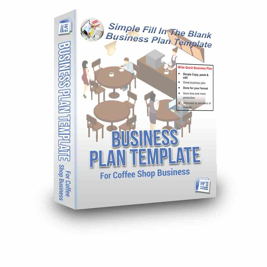 Coffee shop business plan bpe presenting a rare four for the price of one business plan template package for a coffee shop business flashek